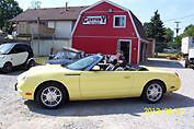 2002 Ford Thunderbird Convertible  (only year for yellow)