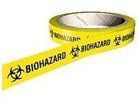 10 Rolls Biohazard Tape Halloween Fancy Dress Brand New