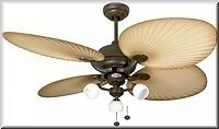 Fantasia 114857 52 Palm Chocolate Brown Ceiling Fan With Light