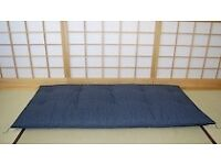 real imported Japanese double futon bed with 2 tatami mat