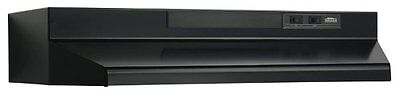 36 In. Two-Speed 4-Way Convertible Under Cabinet Range Hood - Black F403623 NEW