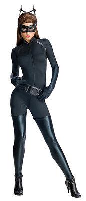Womens Catwoman Costume Black Cat Suit Dark Knight Rises Cat Woman XS S M L NEW (Black Cat Womens Costume)