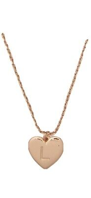 Kate Spade Plate Initial Here  L Pendant Necklace