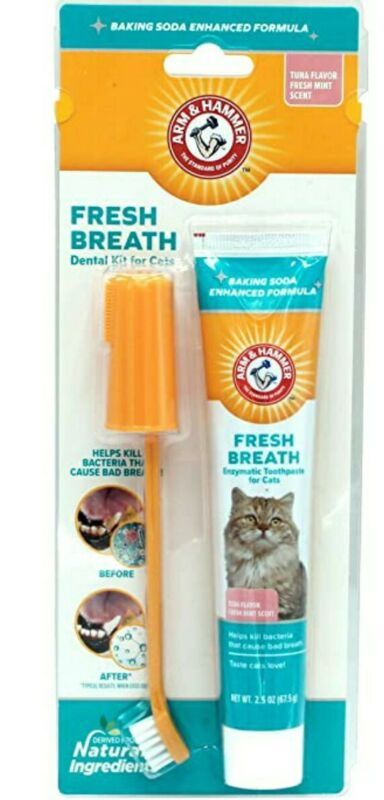 Arm & Hammer Pets Dental Care for Cats Water Additive, Toothpaste & Finger Brush