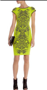 New Karen Millen Jungle Jacquard Knit Bodycon Dress - Size 1 $459 Edgecliff Eastern Suburbs Preview
