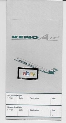Reno Air Md 80 Ticket Jacket Route Map