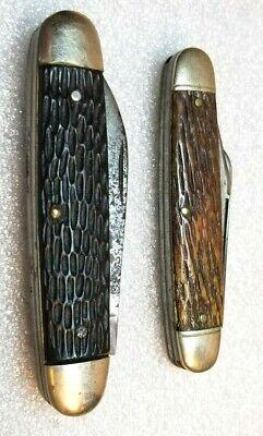 Vintage Pocket Knife Lot 1-Sharpleigh HDW Co & 1-Ulster USA A