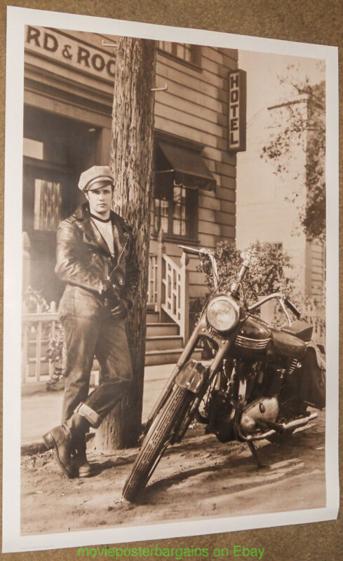 MARLON BRANDO The Wild One MOVIE POSTER 26x38 REPRINT Brando & Motorcycle 1950