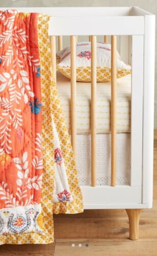 NEW Anthropologie White Croched Crib Skirt - Toddler Bed