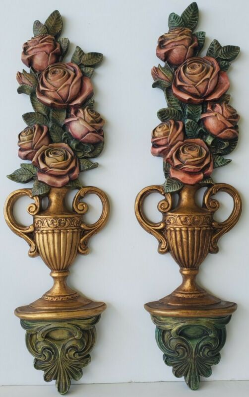 🥳🥳🥳🥳Vintage painted wall sconces decor set of 2
