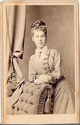 Aug. Riemann CDV photo Feine Dame - Bielefeld um 1880