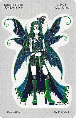 ZOE MOON & STARS FAERY Fairy Sticker Car Decal Myka Jelina goth gothic faerie