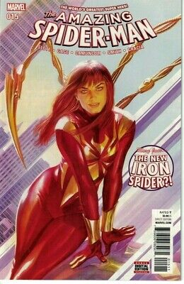 Amazing Spider-Man #15 NM+ 1st Print Iron Spider Suit Mary Jane Alex Ross 529 (Awesome Iron Man Suits)