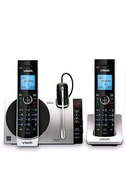 VTech DS6771-3 6.0 Expandable Cordless Phone Silver/Black, 2 Handsets 1 HEADSET