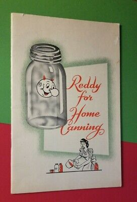Vintage Reddy kilowatt REDDY FOR HOME CANNING Recipe Booklet