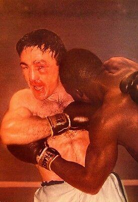 (CARMEN BASILIO boxer clippings 1956 color photos Johnny Saxton middleweight)