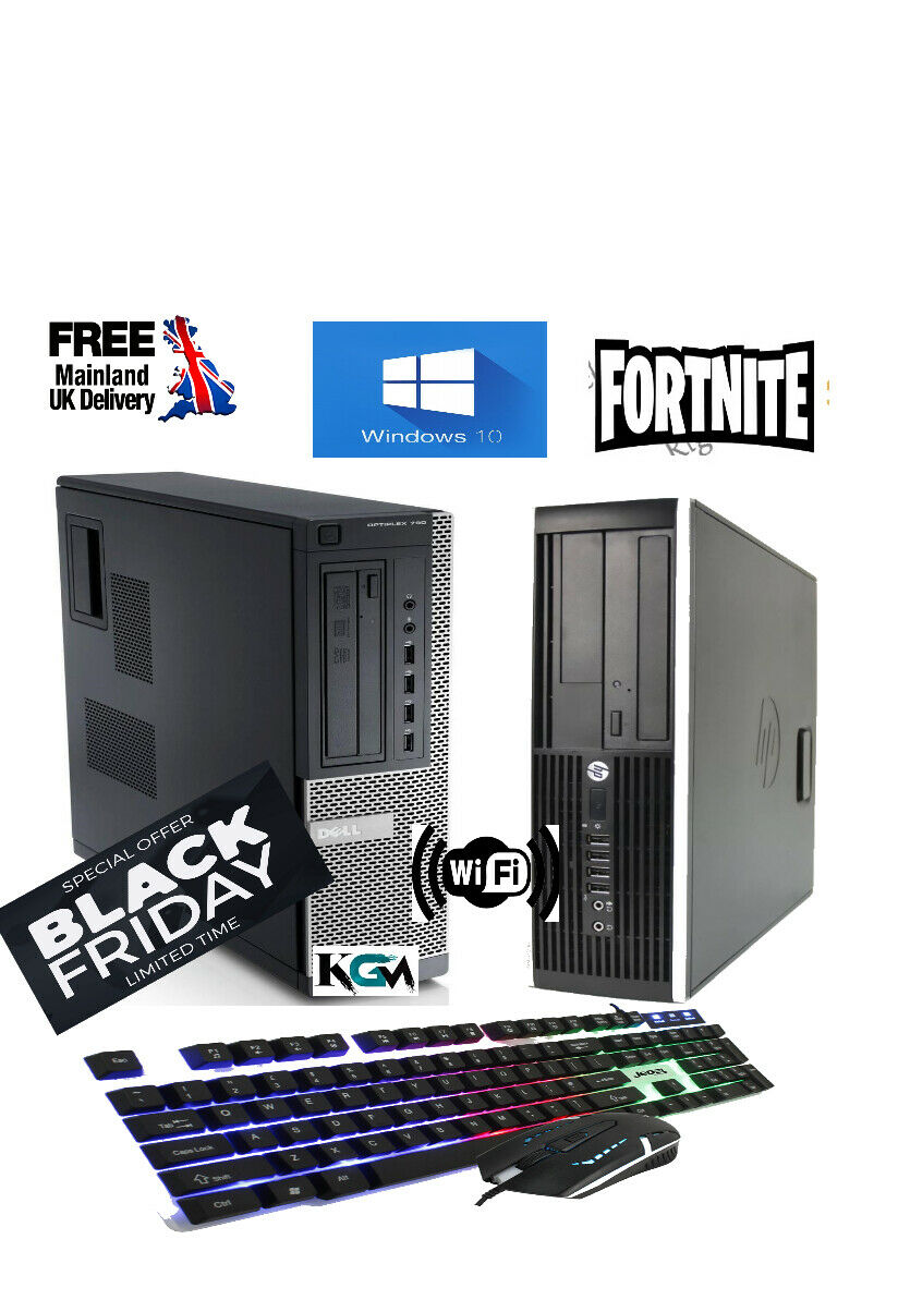 Computer Games - FAST GAMING DELL BUNDLE  FULL SET COMPUTER SYSTEM INTEL i5 8GB 500GB  GT710