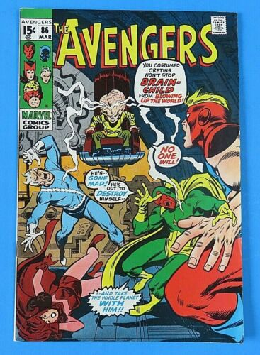 AVENGERS #86 MARVEL BRONZE AGE COMIC BOOK 1971 ~ VF-