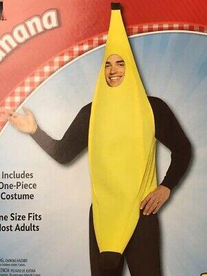 Adult Halloween Humor (Banana Adult Man One Size Fits Most Costume Halloween Dress Up Humor Fruit)
