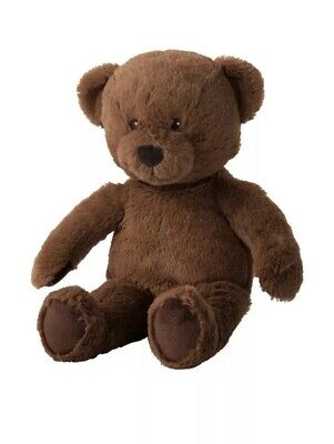 IKEA Furry Teddy Bear Stuffed Animal Children Kid Soft Toy Brown BRUNBJORN-NEW ()