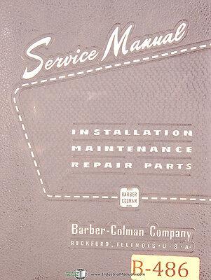 Barber Colman T Type Taper Spline Hobbing Machine Service Manual