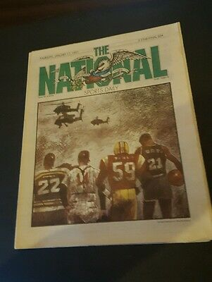 THE NATIONAL SPORTS DAILY NEWS PAPER JANUARY 17 1991  WAR , RANDY AYERS OHIO ST.