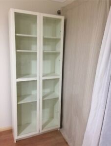 Cabinet - White with Glass Doors