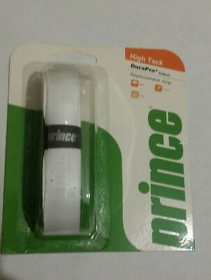 Prince High tack DuraPro+ Indoor Replacement Grip White Tennis Squash