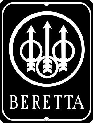 BERETTA Firearms Logo Gun Aluminum 9