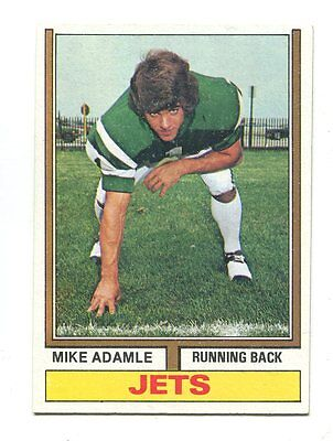 1974 Topps  149 Mike Adamle New York Jets Rookie