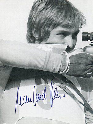 Original Autogramm Manfred Beer Biathlet DDR Meister Weltmeister Biathlon