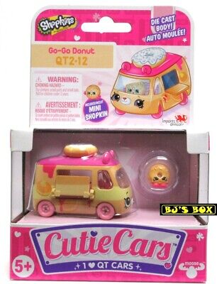 Shopkins Cutie Cars GO-GO DONUT Series#2 QT2-12 Die-Cast Car & Figure New