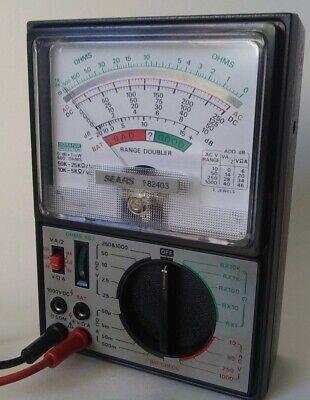 Vintage Sears 9-82403 Fet-vom Multitester Range Doubler Tested Working
