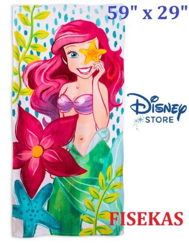 "Disney Store Princess Ariel Beach Cotton Towel Large 59"" H x 29"" W Mermaid NEW"