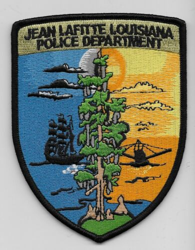 Scenic Bayou Jean Lafitte Police State Louisiana LA patch