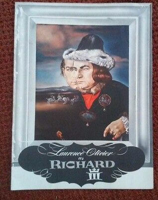 LAURENCE OLIVIER as RICHARD III PLAY BOOK W/SALVIDOR DALI PRINT