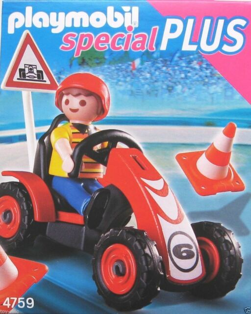 PLAYMOBIL SPECIAL PLUS 4759 - BOY WITH RACING KART CAR - BRAND NEW & SEALED!