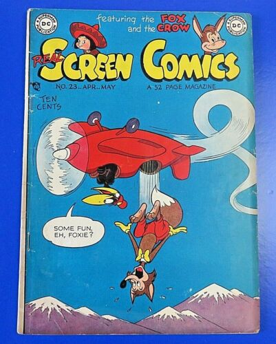 REAL SCREEN COMICS #23 DC GOLDEN AGE COMIC BOOK 1949 ~ VG+/FN