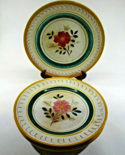 Stangl Pottery Terra Rose Garden Flower Set of 4 Dinner Plates NJ USA