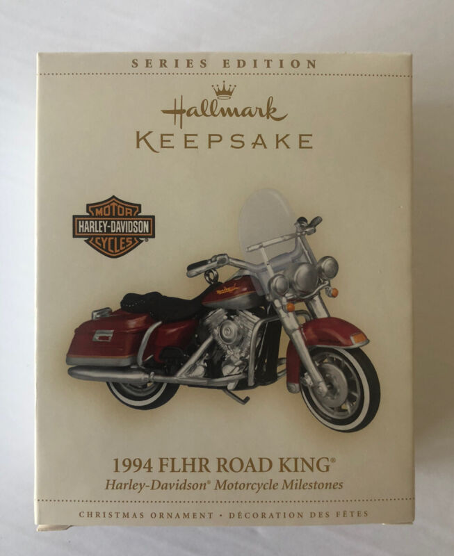 HALLMARK HARLEY-DAVIDSON 1994 FLHR ROAD KING MOTORCYCLE ORNAMENT IN BOX