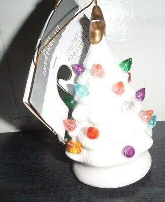 Target Wondershop Retro Christmas Tree Ornament Light Up Nostalgic white