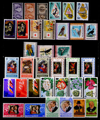 MONTSERRAT, BRITISH: 1950'S - 70'S STAMP COLLECTION WITH SETS MOSTLY UNUSED