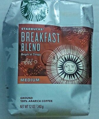 Starbucks Breakfast Blend Coffee, Ground, 12-Ounce Bags