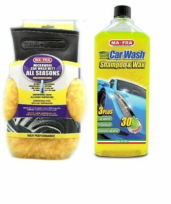KIT PULIZIA AUTO MA-FRA shampoo e cera guanto pulizia senza graffi MAFRA CARWASH