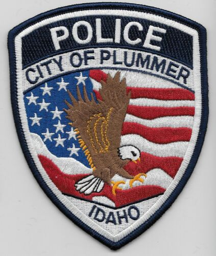 Plummer Police State Idaho US Flag & Eagle