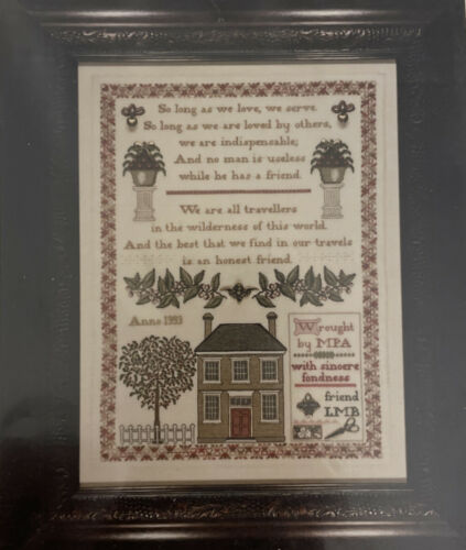 The Hearts Content Gift Of A Friend Maureen Appleton Cross Stitch Pattern Open - $18.99