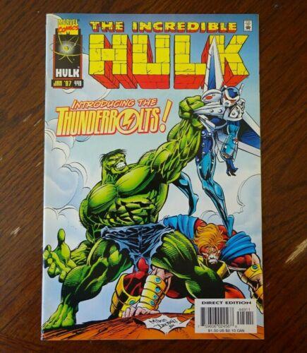 INCREDIBLE HULK #449 1997 (Fine range) 1st appearance The Thunderbolts! Marvel