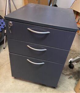 Lockable filing cabinet with wheels