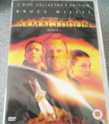 ARMAGEDDON*DVD*2 DISC COLLECTOR'S EDITION*BRUCE WILLIS*RATED 15*NEW*SEALED