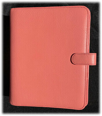 New Vintage Franklin Covey Giada Crushed Peach Classic Planner Binder Euc